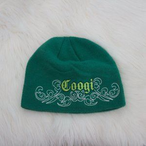 Coogi Green Embroidered Beanie